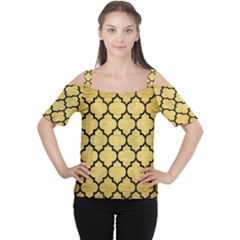 TIL1 BK MARBLE GOLD (R) Women s Cutout Shoulder Tee