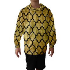 TIL1 BK MARBLE GOLD (R) Hooded Wind Breaker (Kids)