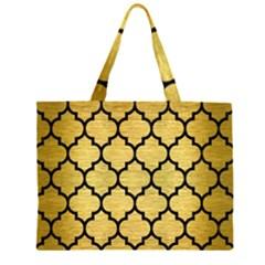 TIL1 BK MARBLE GOLD (R) Large Tote Bag