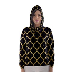 TIL1 BK MARBLE GOLD Hooded Wind Breaker (Women)