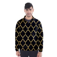 Tile1 Black Marble & Gold Brushed Metal Wind Breaker (men)