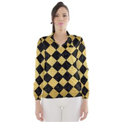 SQR2 BK MARBLE GOLD Wind Breaker (Women)