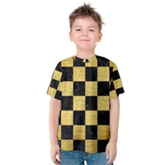 SQR1 BK MARBLE GOLD Kid s Cotton Tee