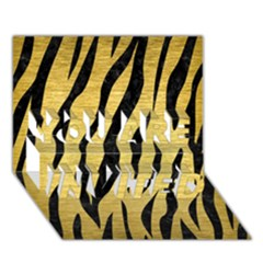 Skin3 Black Marble & Gold Brushed Metal (r) You Are Invited 3d Greeting Card (7x5)