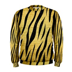 Skin3 Black Marble & Gold Brushed Metal (r) Men s Sweatshirt