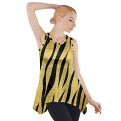SKN3 BK MARBLE GOLD (R) Side Drop Tank Tunic