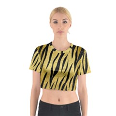 SKN3 BK MARBLE GOLD (R) Cotton Crop Top