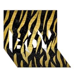 Skin3 Black Marble & Gold Brushed Metal Boy 3d Greeting Card (7x5)