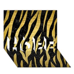 Skin3 Black Marble & Gold Brushed Metal Hope 3d Greeting Card (7x5)