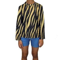 SKN3 BK MARBLE GOLD Kid s Long Sleeve Swimwear