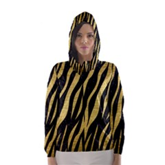 SKN3 BK MARBLE GOLD Hooded Wind Breaker (Women)