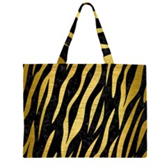 SKN3 BK MARBLE GOLD Large Tote Bag