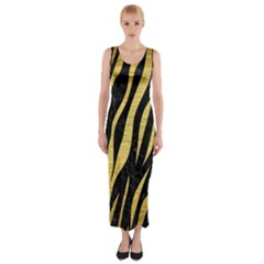 SKN3 BK MARBLE GOLD Fitted Maxi Dress