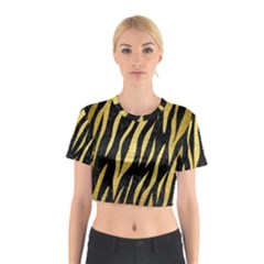 SKN3 BK MARBLE GOLD Cotton Crop Top