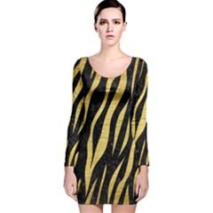 SKN3 BK MARBLE GOLD Long Sleeve Velvet Bodycon Dress