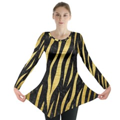 SKN3 BK MARBLE GOLD Long Sleeve Tunic