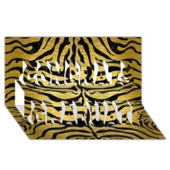 Skin2 Black Marble & Gold Brushed Metal (r) Congrats Graduate 3d Greeting Card (8x4)