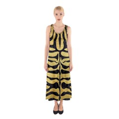 SKN2 BK MARBLE GOLD (R) Full Print Maxi Dress