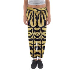 Skin2 Black Marble & Gold Brushed Metal (r) Women s Jogger Sweatpants