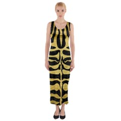 SKN2 BK MARBLE GOLD Fitted Maxi Dress
