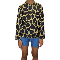 SKN1 BK MARBLE GOLD (R) Kid s Long Sleeve Swimwear