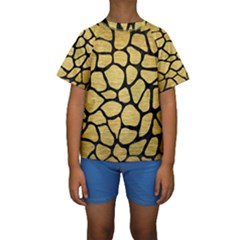 SKN1 BK MARBLE GOLD Kid s Short Sleeve Swimwear