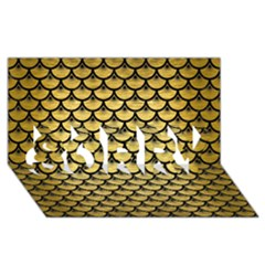 Scales3 Black Marble & Gold Brushed Metal (r) Sorry 3d Greeting Card (8x4)