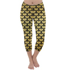 SCA3 BK MARBLE GOLD (R) Capri Winter Leggings