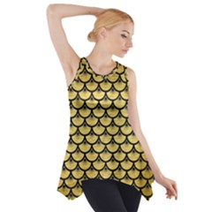 SCA3 BK MARBLE GOLD (R) Side Drop Tank Tunic