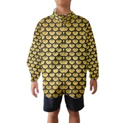 SCA3 BK MARBLE GOLD (R) Wind Breaker (Kids)