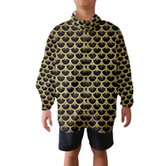 SCA3 BK MARBLE GOLD Wind Breaker (Kids)
