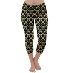 SCA2 BK MARBLE GOLD Capri Winter Leggings