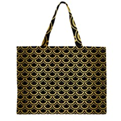 SCA2 BK MARBLE GOLD Large Tote Bag