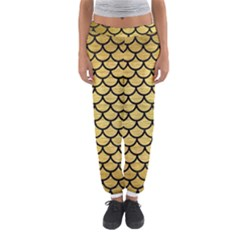 Scales1 Black Marble & Gold Brushed Metal (r) Women s Jogger Sweatpants