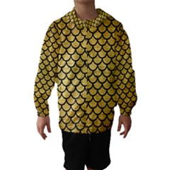 SCA1 BK MARBLE GOLD (R) Hooded Wind Breaker (Kids)