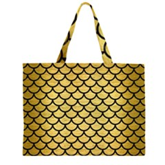 SCA1 BK MARBLE GOLD (R) Large Tote Bag