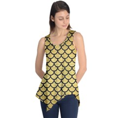 SCA1 BK MARBLE GOLD (R) Sleeveless Tunic