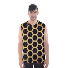 HXG2 BK MARBLE GOLD Men s Basketball Tank Top