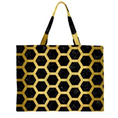HXG2 BK MARBLE GOLD Large Tote Bag