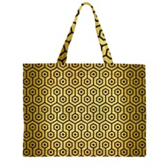 HXG1 BK MARBLE GOLD (R) Large Tote Bag