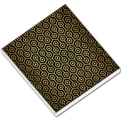 Hexagon1 Black Marble & Gold Brushed Metal Small Memo Pads