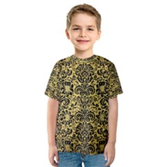 DMS2 BK MARBLE GOLD (R) Kid s Sport Mesh Tee