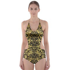 DMS2 BK MARBLE GOLD (R) Cut-Out One Piece Swimsuit