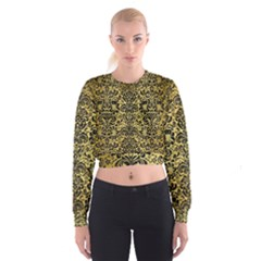 DMS2 BK MARBLE GOLD (R) Women s Cropped Sweatshirt