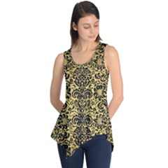 DMS2 BK MARBLE GOLD (R) Sleeveless Tunic