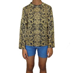 DMS2 BK MARBLE GOLD Kid s Long Sleeve Swimwear