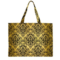 DMS1 BK MARBLE GOLD (R) Large Tote Bag