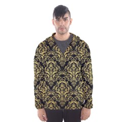 DMS1 BK MARBLE GOLD Hooded Wind Breaker (Men)