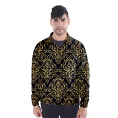 DMS1 BK MARBLE GOLD Wind Breaker (Men)