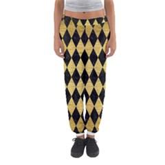 DIA1 BK MARBLE GOLD Women s Jogger Sweatpants